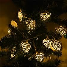 lumiparty 20led 2 5m decorative golden shaped string