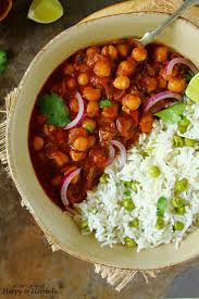 choley or chana masala indian chickpea curry