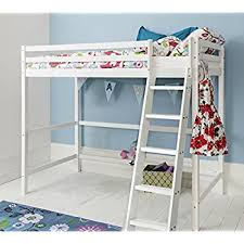 High Sleeper With Futon High Sleeper Bed With Black Futon Desk And 2 Shelves 3ft Single