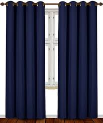 Curtains 80 Inches Long Amazon Com Blackout Room Darkening Curtains Window Panel Drapes