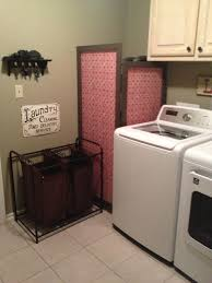 Laundry In Bathroom Ideas by Have An Exposed Water Heater Make A Wood And Fabric Screen To