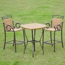 Wicker Bistro Table And Chairs Patio Furniture Sets