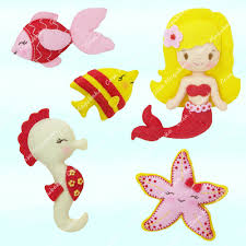 mermaid and other sea creatures sewing pattern pdf file