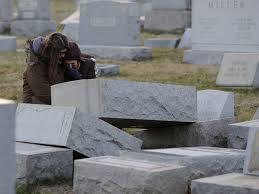 cemetery headstones headstones vandalized at cemetery in philadelphia the two