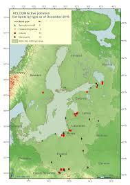 Baltic Sea Map Main Pollution Sites Helcom Hotspots Helcom