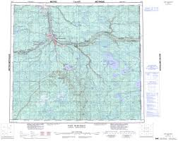 Where Is Fort Mcmurray On A Map Of Canada by Printable Topographic Map Of Fort Mcmurray 074d Ab