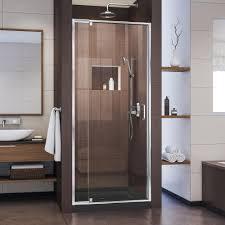 28 Shower Door Dreamline Unidoor 28 In X 72 In Frameless Hinged Pivot Shower