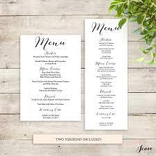 wedding menu templates wedding menu template printable menu template 2535979 weddbook