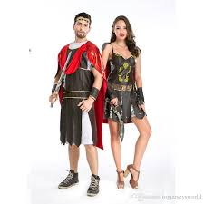 Halloween Costumes Couples Cheap Greek Mythology Couples Cosplay Costume Gladiator Halloween
