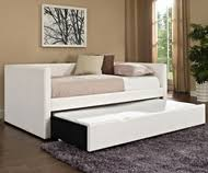 twin size daybed with trundle in white f9259 poundex furniture