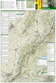 Washington Park Map by Shenandoah National Park National Geographic Trails Illustrated