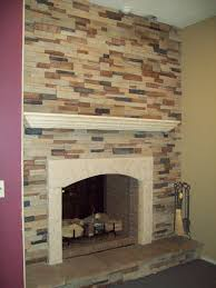 Stone Wall Tiles For Living Room Comfortable Living Room With Stone Veneer Fireplace And Wood With