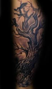 3d guys family tree with carved forearm sleeve