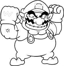 wario coloring pages cool mario pictures coloring mario bros free