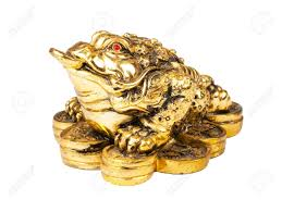 chinese feng shui frog with coins symbol of money and wealth