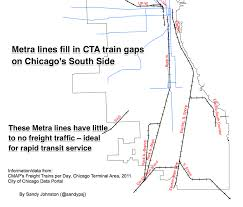 Chicago Map Traffic by High Speed Rail Association Use Metra Tracks For O U0027hare Express