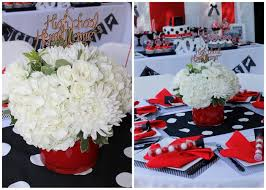 graduation center pieces and black graduation party ideas real white