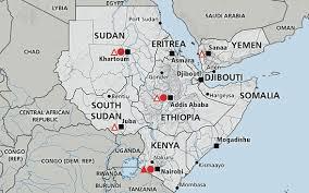 africa map khartoum greater horn of africa somalia kenya south sudan
