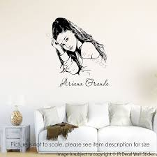 amazon com ariana grande wall art stickers ariana grande amazon com ariana grande wall art stickers ariana grande removable vinyl wall decals bedroom home decor handmade