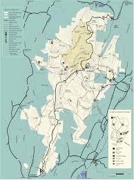 Appalachian Trail Massachusetts Map by Mt Greylock State Reservation Map Williamstown Massachusetts