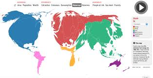 Cartogram Map Climate Change Cartograms What Is The Carbon Map U2013 Anthropocene 723