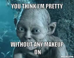 Smeagol Meme - smeagol meme no makeup more information djekova