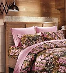 Realtree Camo Duvet Cover Amazon Com Realtree Ap Pink Comforter Set Full Home U0026 Kitchen