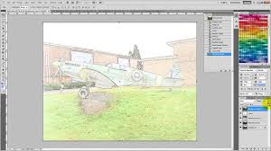 how to convert a color photo to a sketch image with photoshop