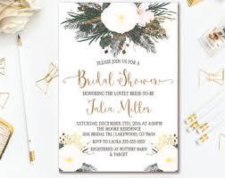 etsy wedding shower invitations winter bridal shower etsy