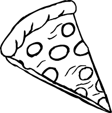 cheese pizza slice coloring page murderthestout