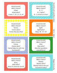 knock knock lunchbox jokes printables knock knock