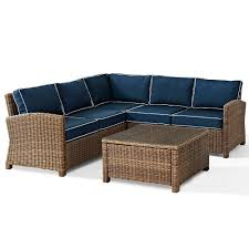 amazon com crosley furniture bradenton 4 piece outdoor wicker