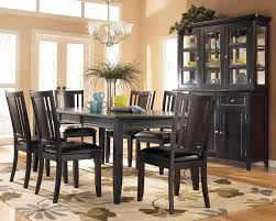 black dining table chairs romantic cool salle manger awesome dark wood dining table with gray
