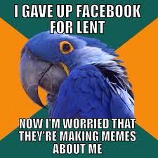 Lent Meme - a paranoid lent anglican memes