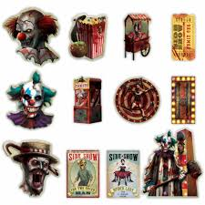 Creepy Carnival Decorations 12 Halloween Creepy Carnival Circus Party Sinister Side Show