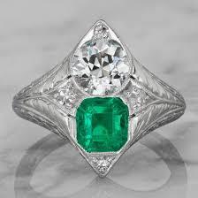 vintage emerald engagement rings vintage emerald engagement rings wedding bands