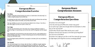 european rivers reading comprehension activity river