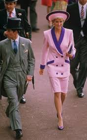princess diana paired candyfloss with purple at royal ascot