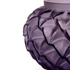 Violet Vase Languedoc Vase Purple Crystal Lalique Crystal Vase Lalique