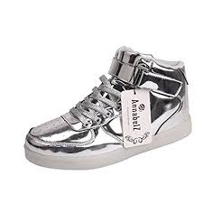 light up shoes gold high top on sale annabelz led shoes high top men women light up shoes usb
