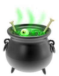 small halloween witch with no background witches cauldron clipart collection