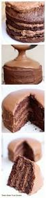 chocolate cake with chocolate mousse filling tastes better from