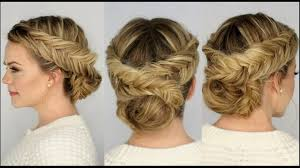 Elegant Chignon Hairstyle by Two Braided Updo Hairstyle For Medium Hair Suits Best Occasions