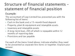 ias 1 statement of financial position statement of profit