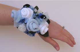 corsage wristlets i heart pears baby shower sock corsage wristlets