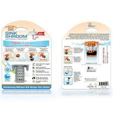 SinkShroom Gray The Hair Catcher That Prevents Clogged Bathroom Sin - Bathroom sink clog 2