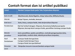 format abstrak tesis format artikel publikasi dan teknik penulisan ppt download