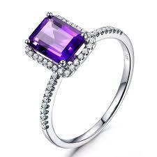 emerald amethyst rings images Myray 6x8mm emerald cut natural genuine purple amethyst crystal jpg