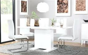 white dining room table extendable white dining table white high gloss extending dining table and 6