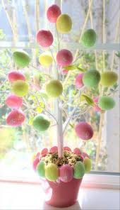 Easter Decorating Ideas Home by Diy Easter Decorations With Tree Easter Decorations And Pink Pot